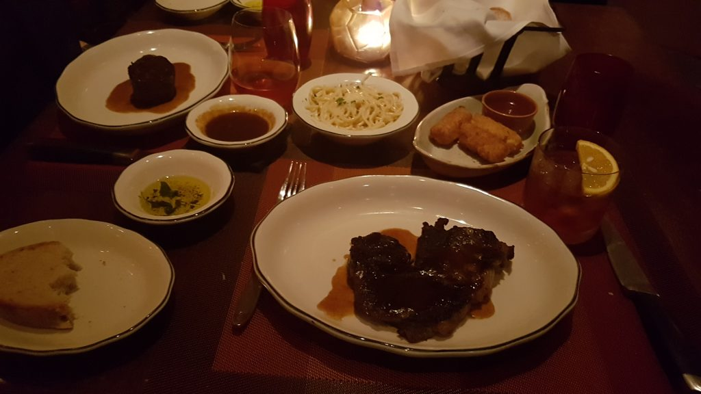 Ribeye and trimmings in Tuscan Grille on Celebrity Eclipse