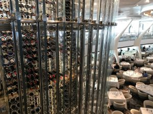 Wine tower on Celebrity Eclipse